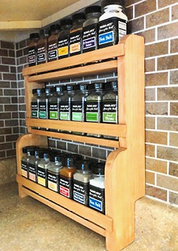 Small Countertop Spice Rack : ... spice wooden spice rack plans rack designs ideas and wooden spice rack
