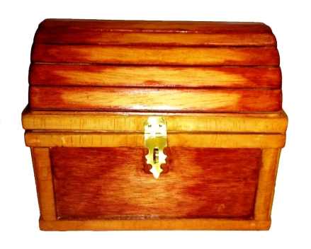 DIY Wooden Pirate Chest Plans model train table building Plans