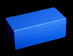 Flat Top Keepsake Box - Custom (Blue Exterior)